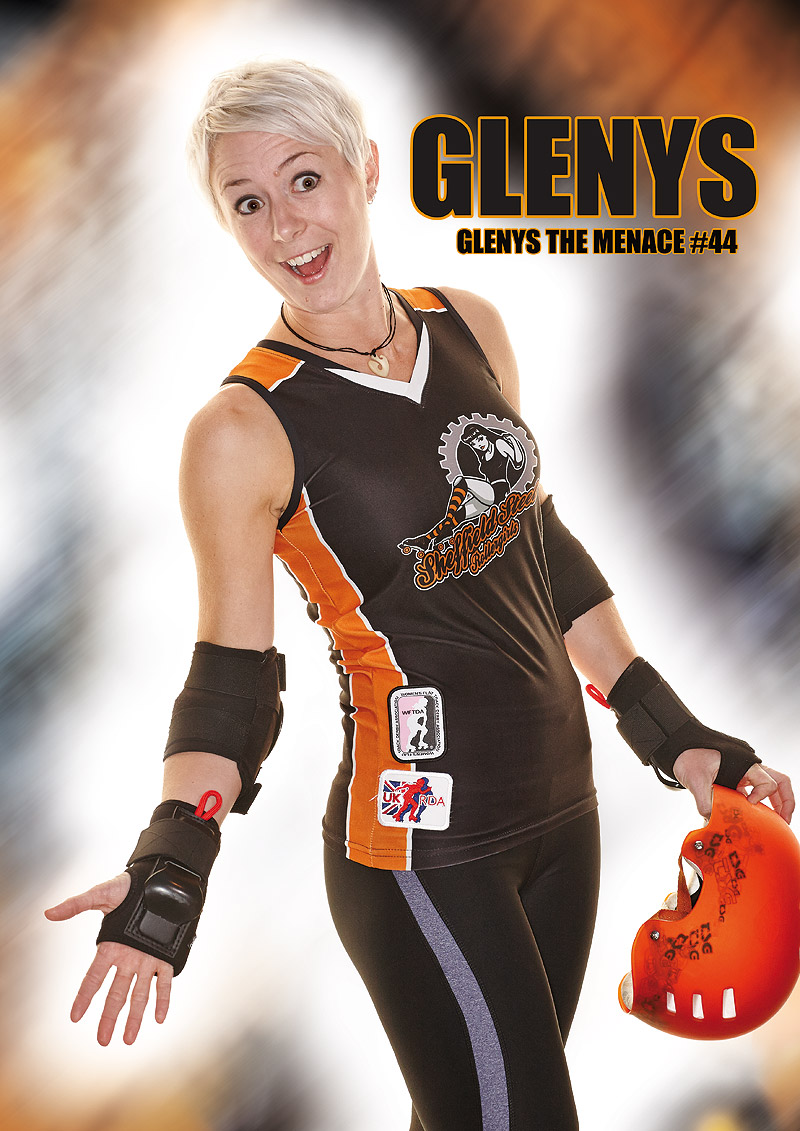 Glenys the Menace - Sheffield Steel Rollergirls