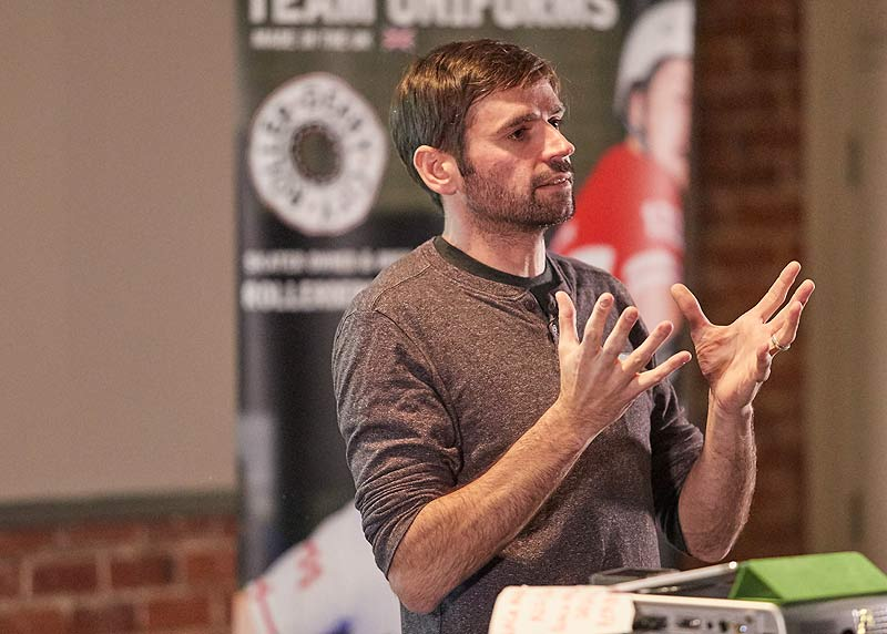 Ballistic Whistle, London Rollergirls and coach for England Roller Derby in 2011 and 2014 explains his approach to coaching at the Rule 56 conference