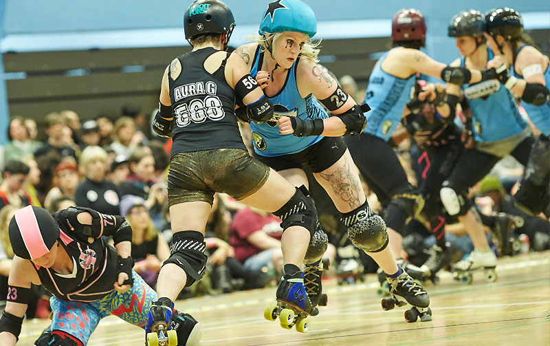 London Rollergirls, 'Batter C' versus Brighton Rockers Roller Derby