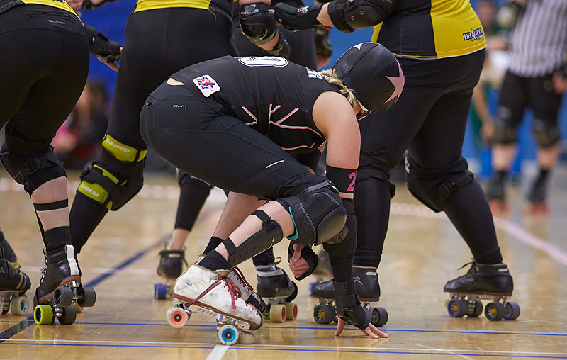 London Rollergirls versus Glasgow Roller Derby