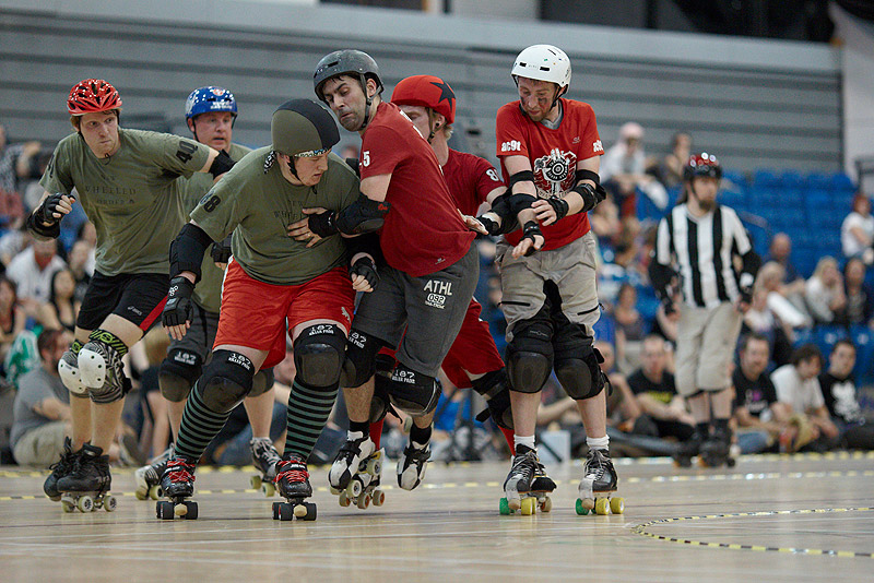The Inhuman League versus Manchester Roller Derby